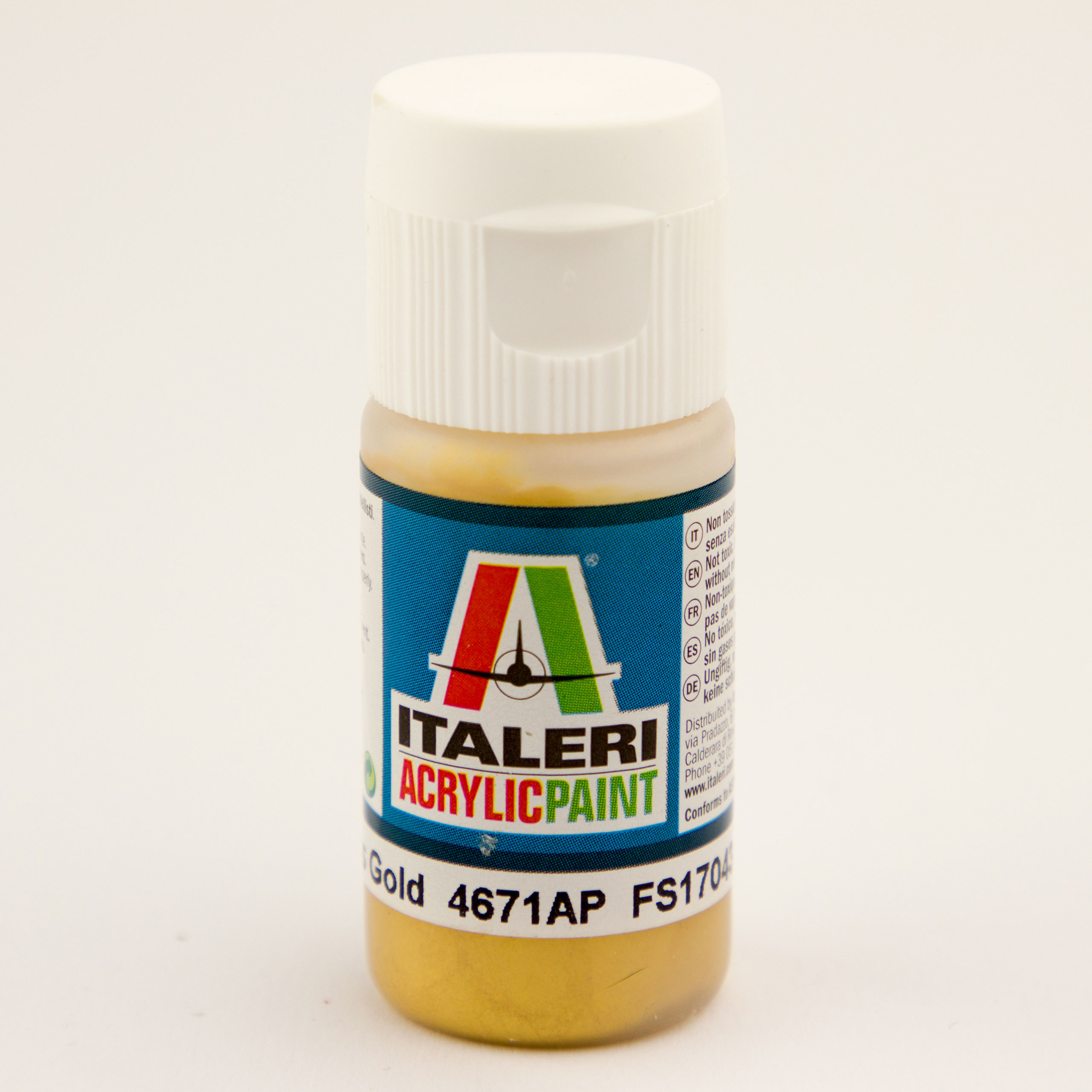 Italeri IT Acrylfarbe 4671 Gold glänzend 20 ml Airbrush Farbe