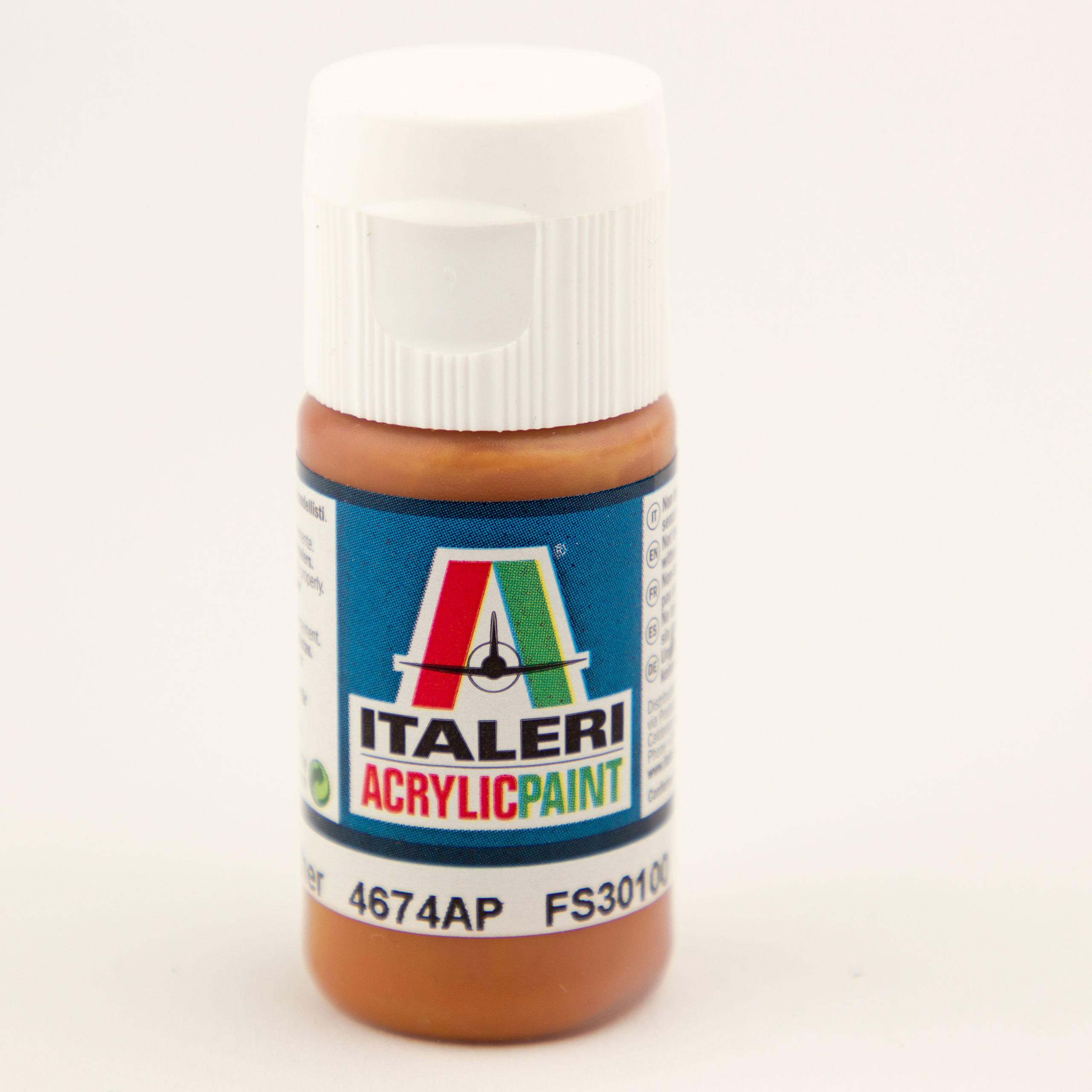 Italeri IT Acrylfarbe 4674 Leder matt 20 ml Airbrush Farbe