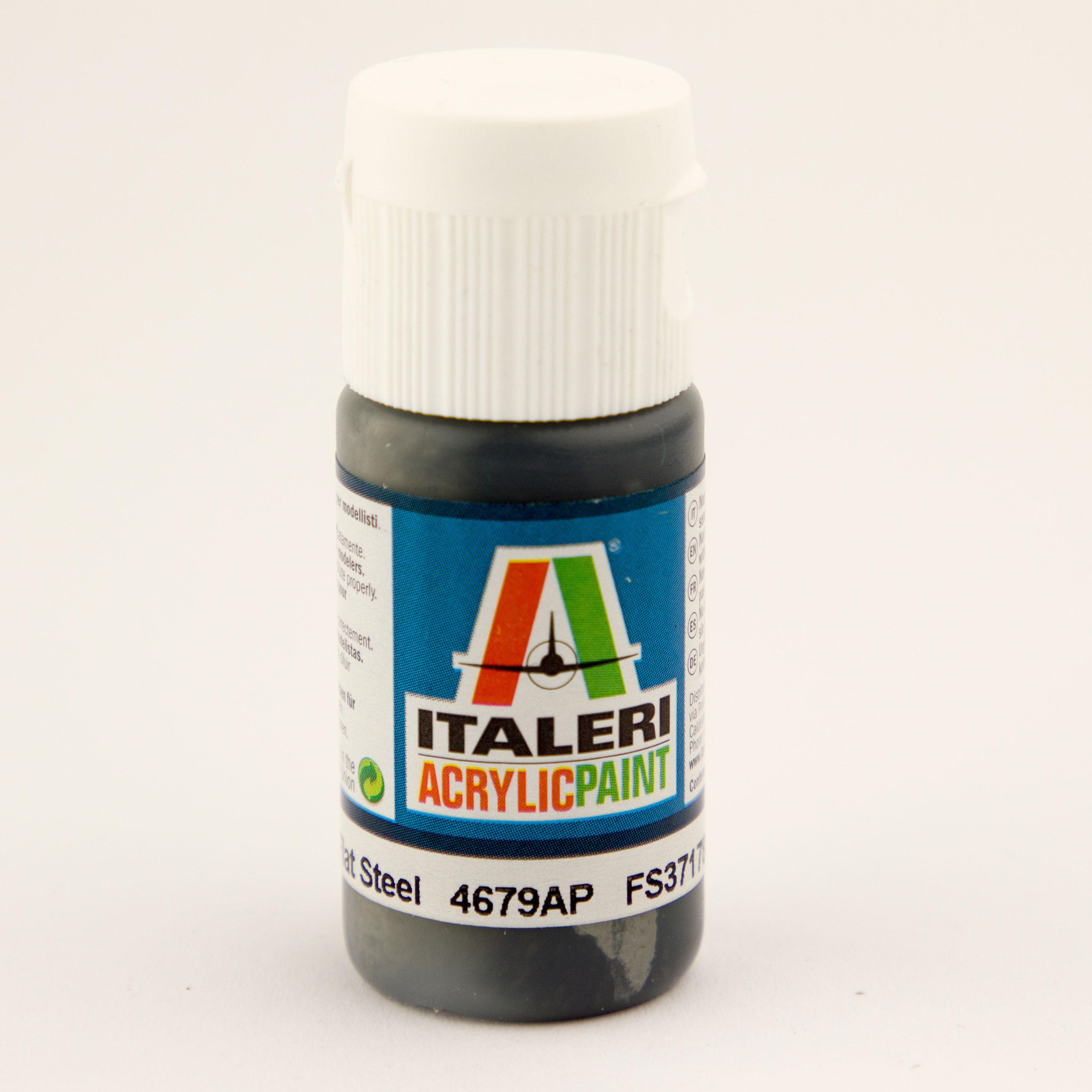 Italeri IT Acrylfarbe 4679 Stahl matt 20 ml Airbrush Farbe