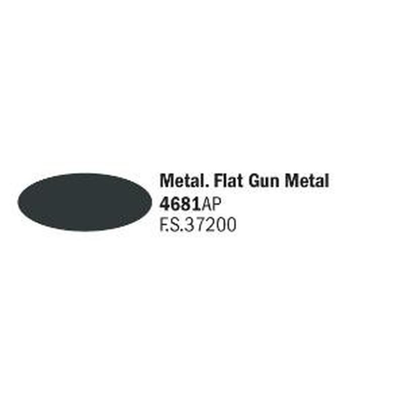 Italeri IT Acrylfarbe 4681 Metallgrau matt 20 ml Airbrush Farbe