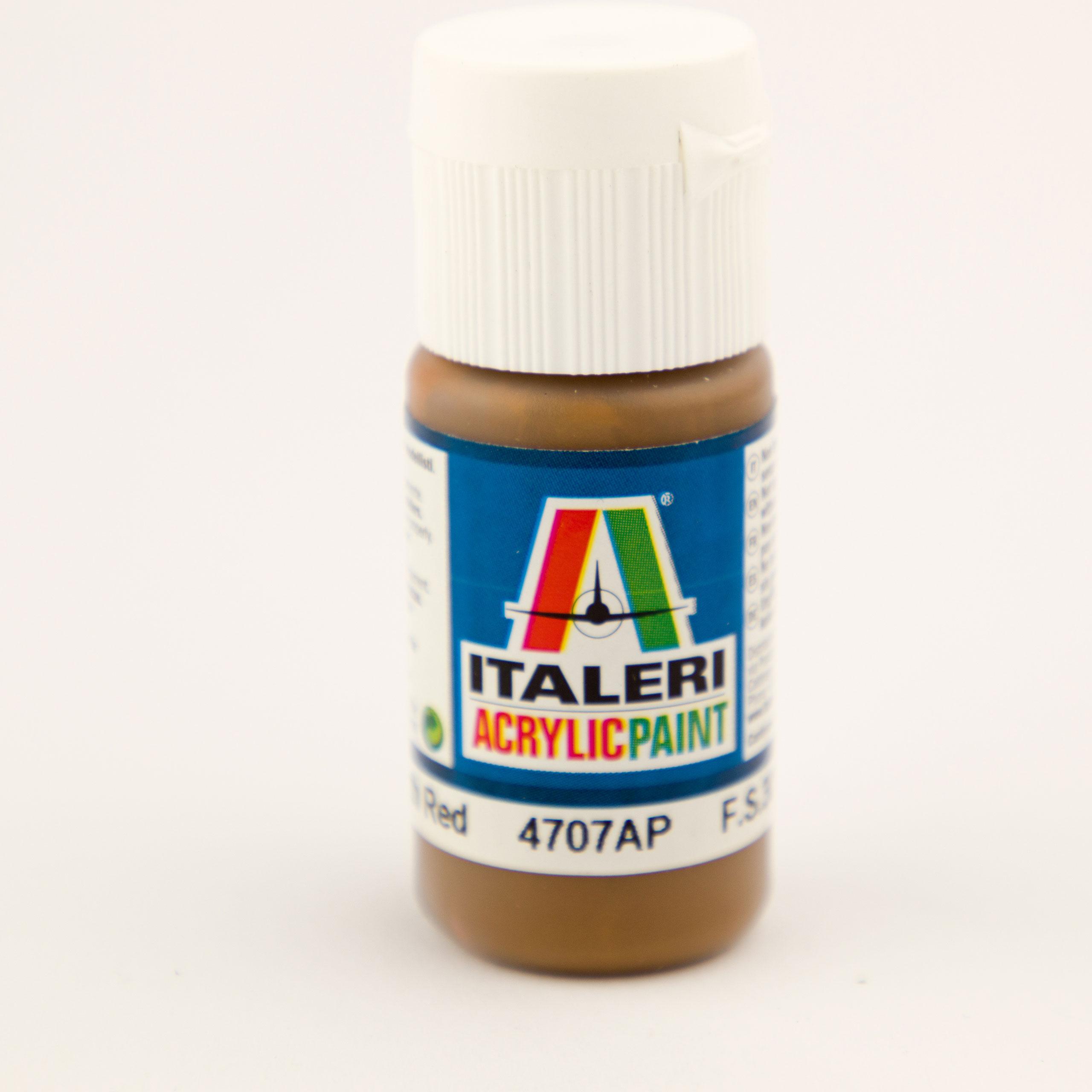 Italeri IT Acrylfarbe 4707 Erd-Rot matt 20 20 ml Airbrush Farbe