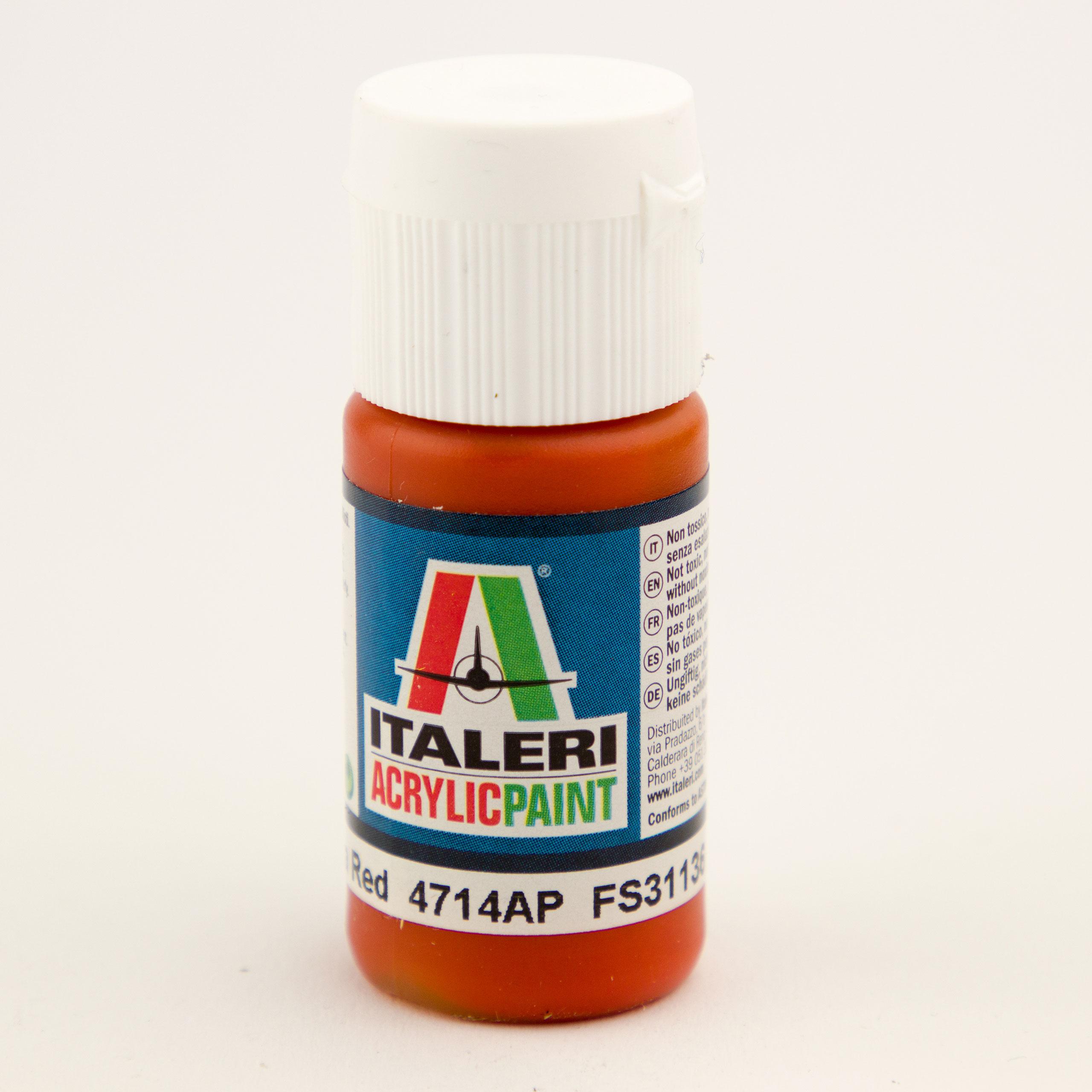 Italeri IT Acrylfarbe 4714 Insignia Rot ma 20 ml Airbrush Farbe