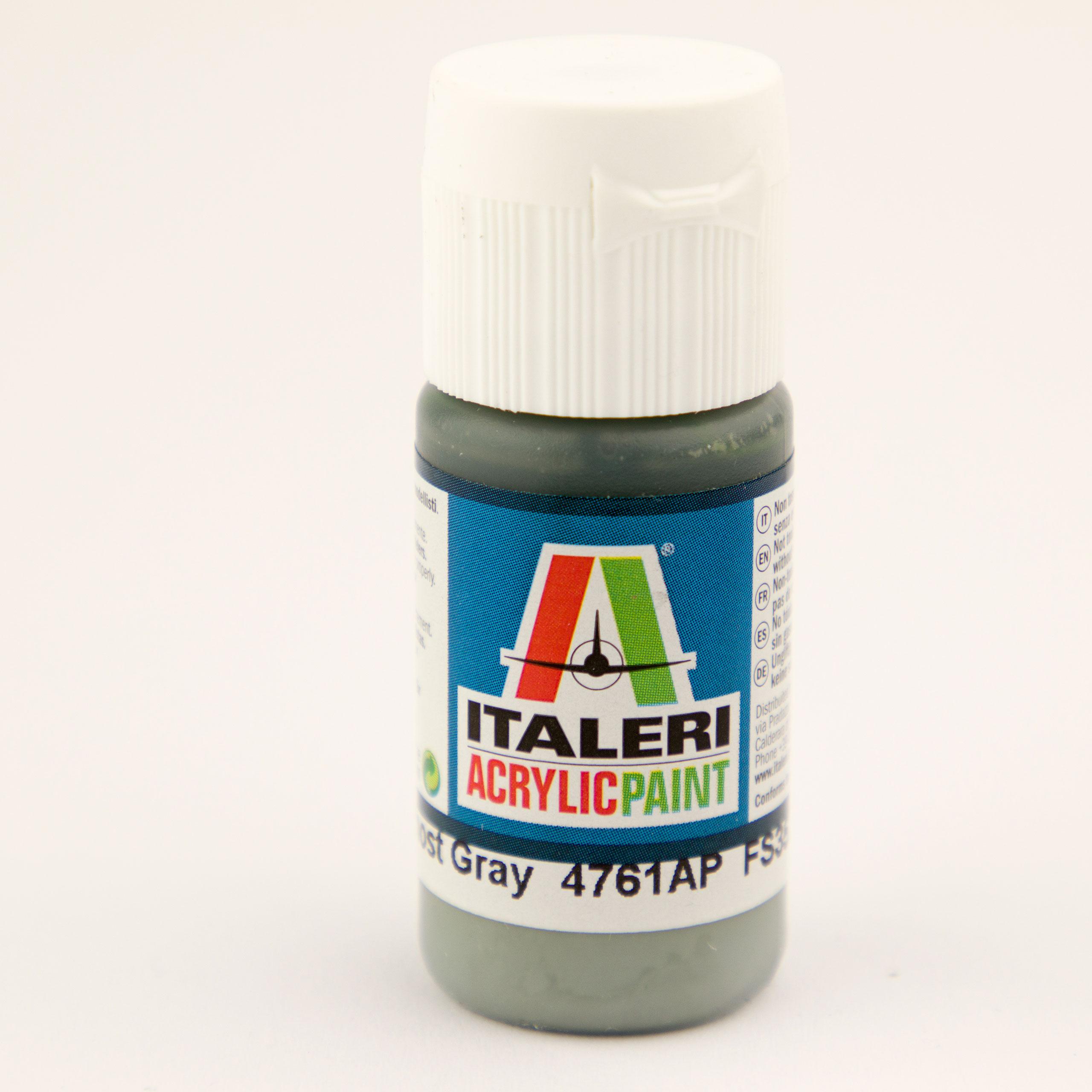 Italeri IT Acrylfarbe 4761 Dkl. Ghost Grau 20 ml Airbrush Farbe