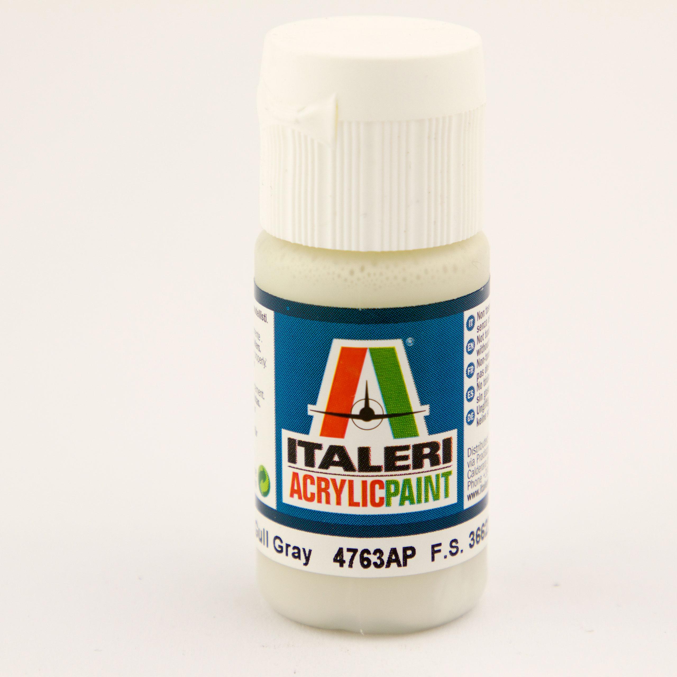 Italeri IT Acrylfarbe 4763 Möven Grau matt 20 ml Airbrush Farbe