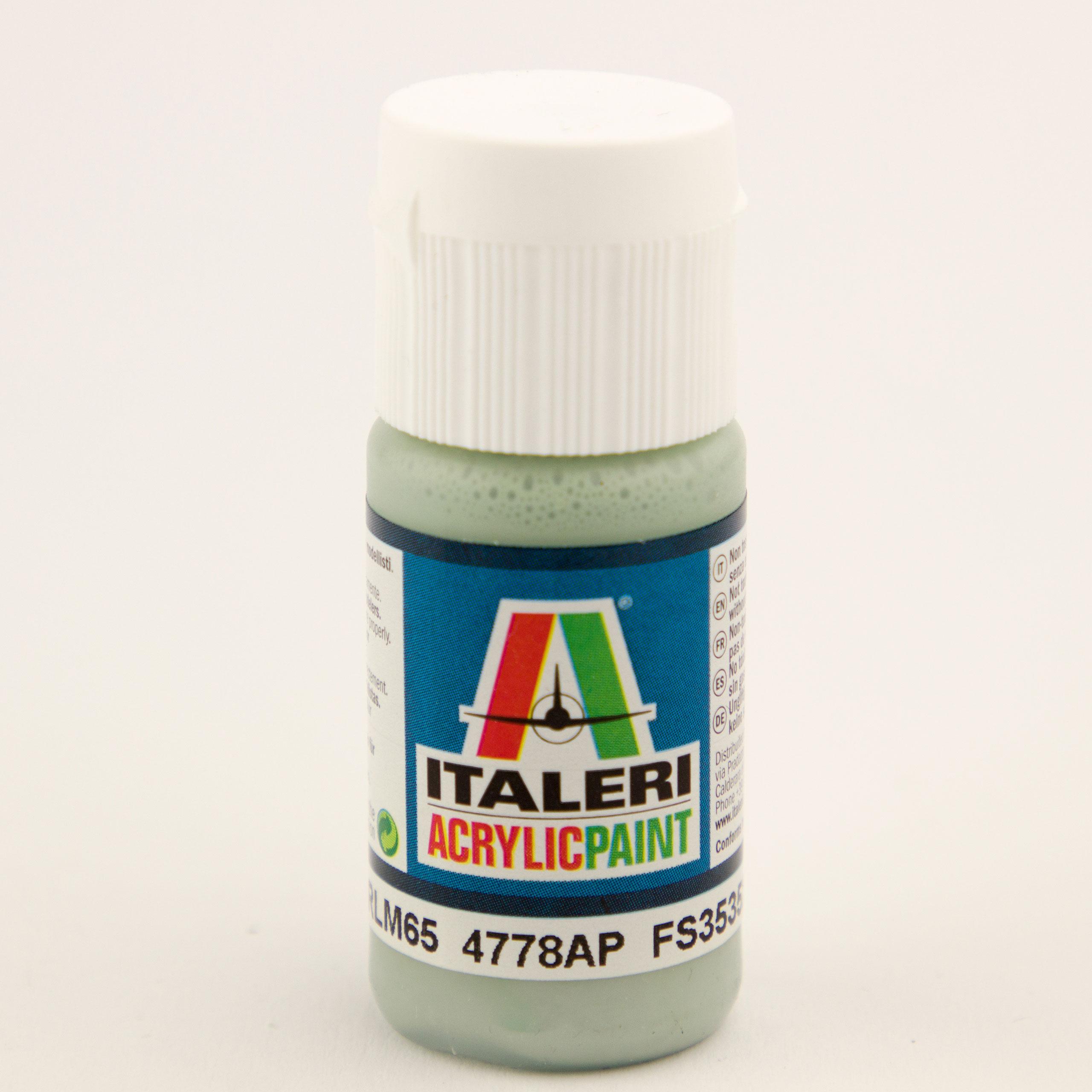 Italeri IT Acrylfarbe 4778 Hellblau RLM65 20 ml Airbrush Farbe