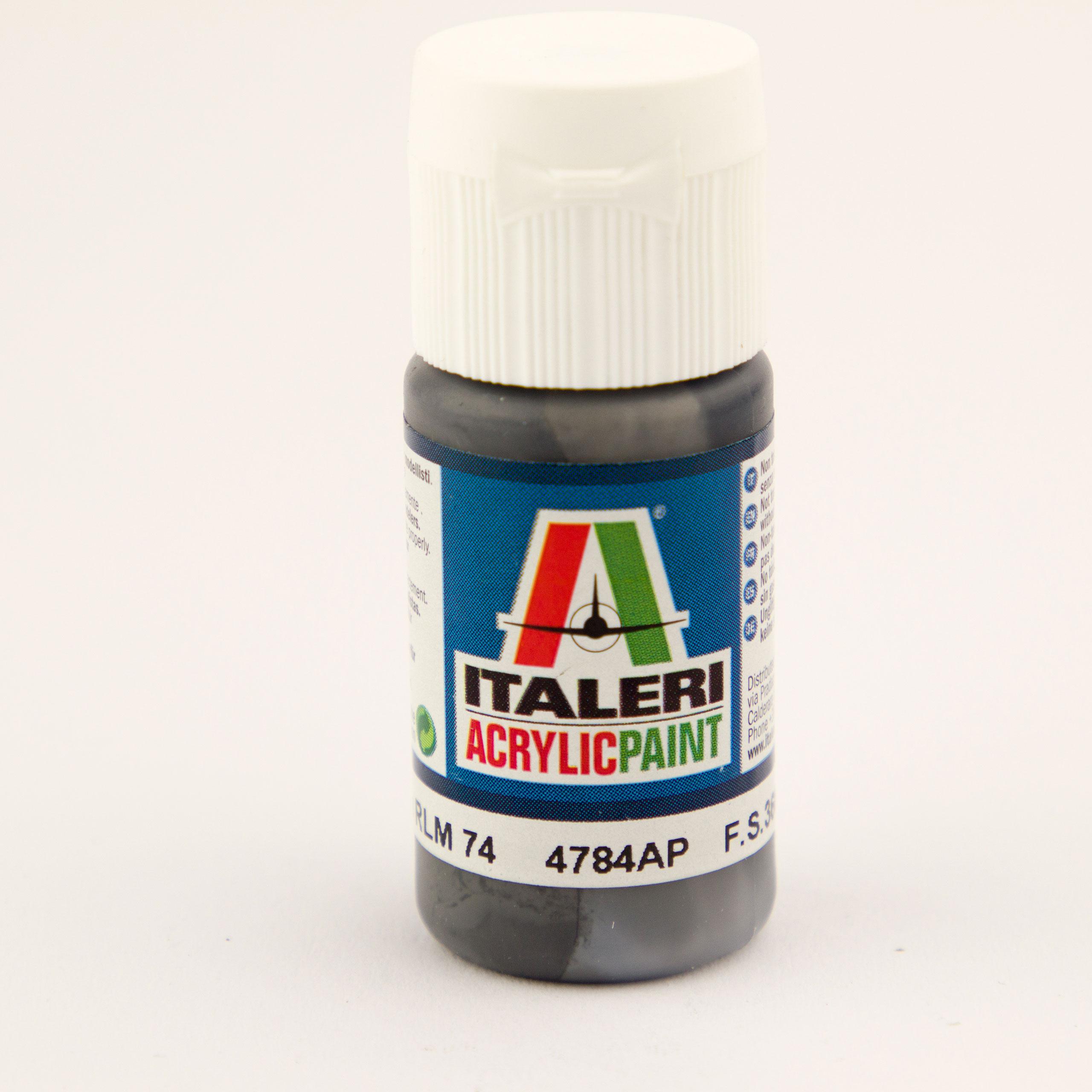 Italeri IT Acrylfarbe 4784 Graugrün RLM74 20 ml Airbrush Farbe