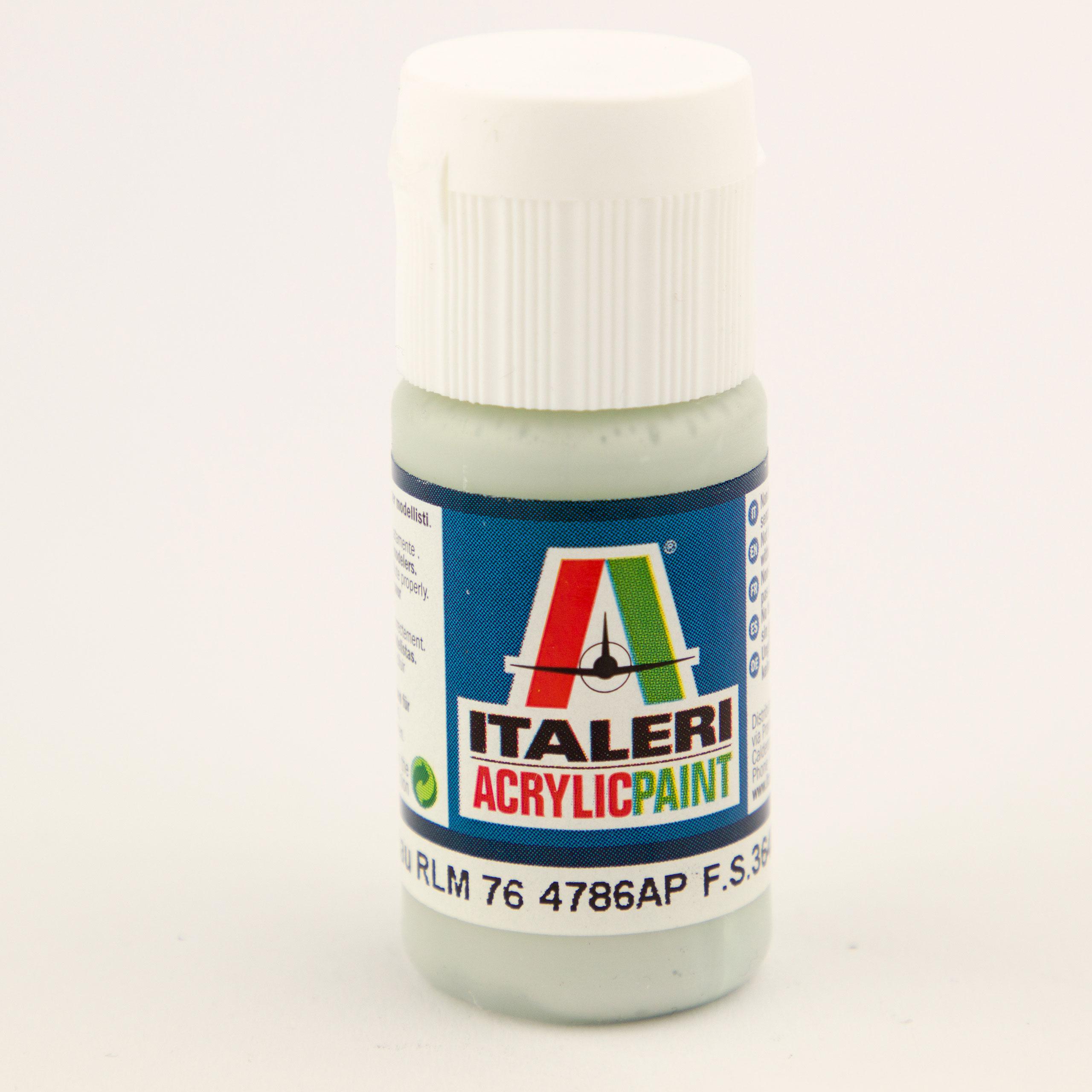 Italeri IT Acrylfarbe 4786 Lichtblau RLM76 20 ml Airbrush Farbe
