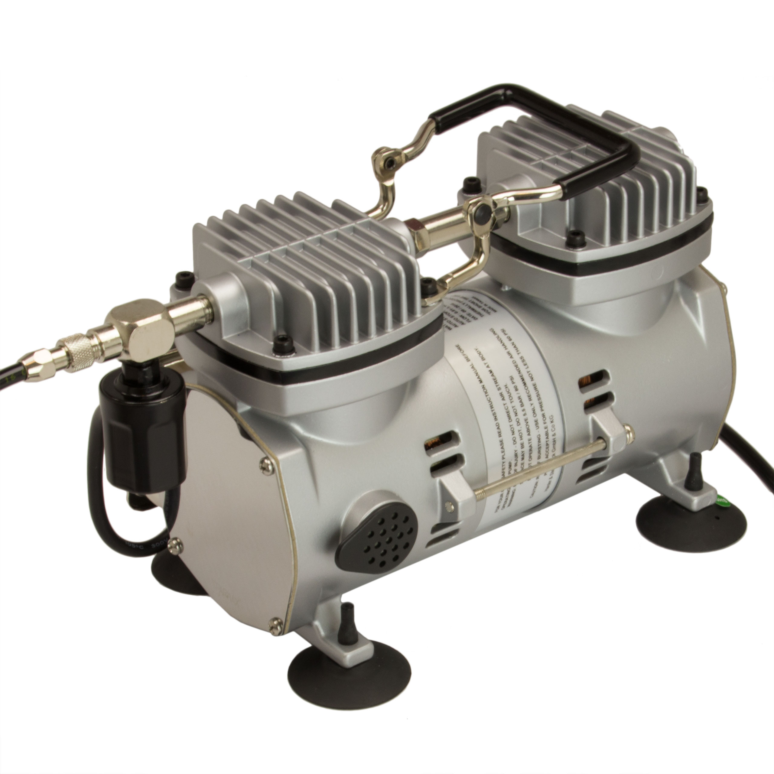 Airbrush Kompressor Sparmax Saturn 40 Doppelkolben Oelfrei